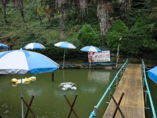 城山オレンヂ園ザリガニつり池