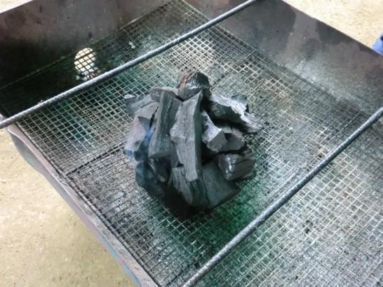 城山オレンヂ園BBQの炭