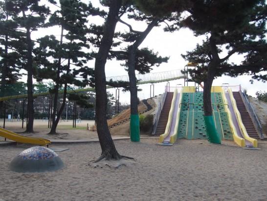 浜寺公園_石段と砂場