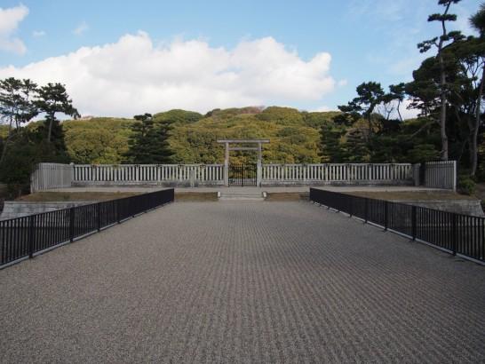 仁徳天皇陵_内堀の橋
