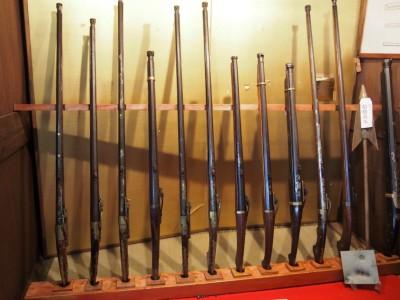 堺鉄砲館の火縄銃展示