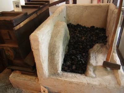 堺鉄砲館の鍛造炉