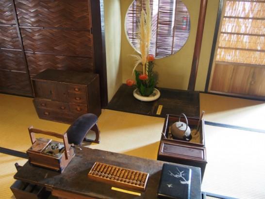 山口家住宅の机