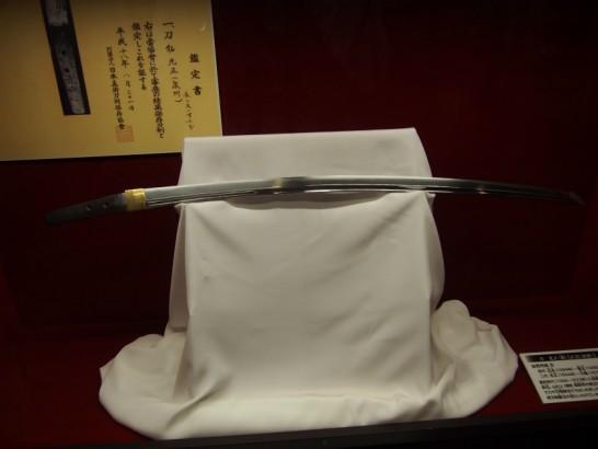 堺伝統産業会館の日本刀