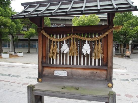 出雲大社大阪分祀車の祈祷場
