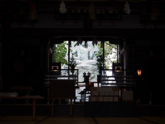 出雲大社大阪分祀奥にある像